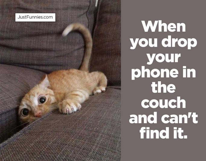 When you drop your phone in the couch and can't find it