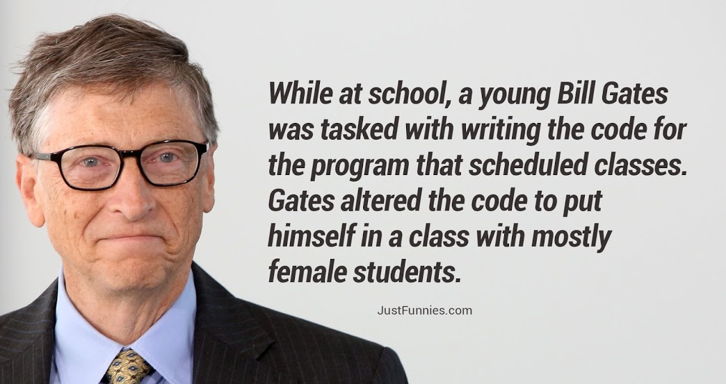 While at school, a young Bill Gates was tasked