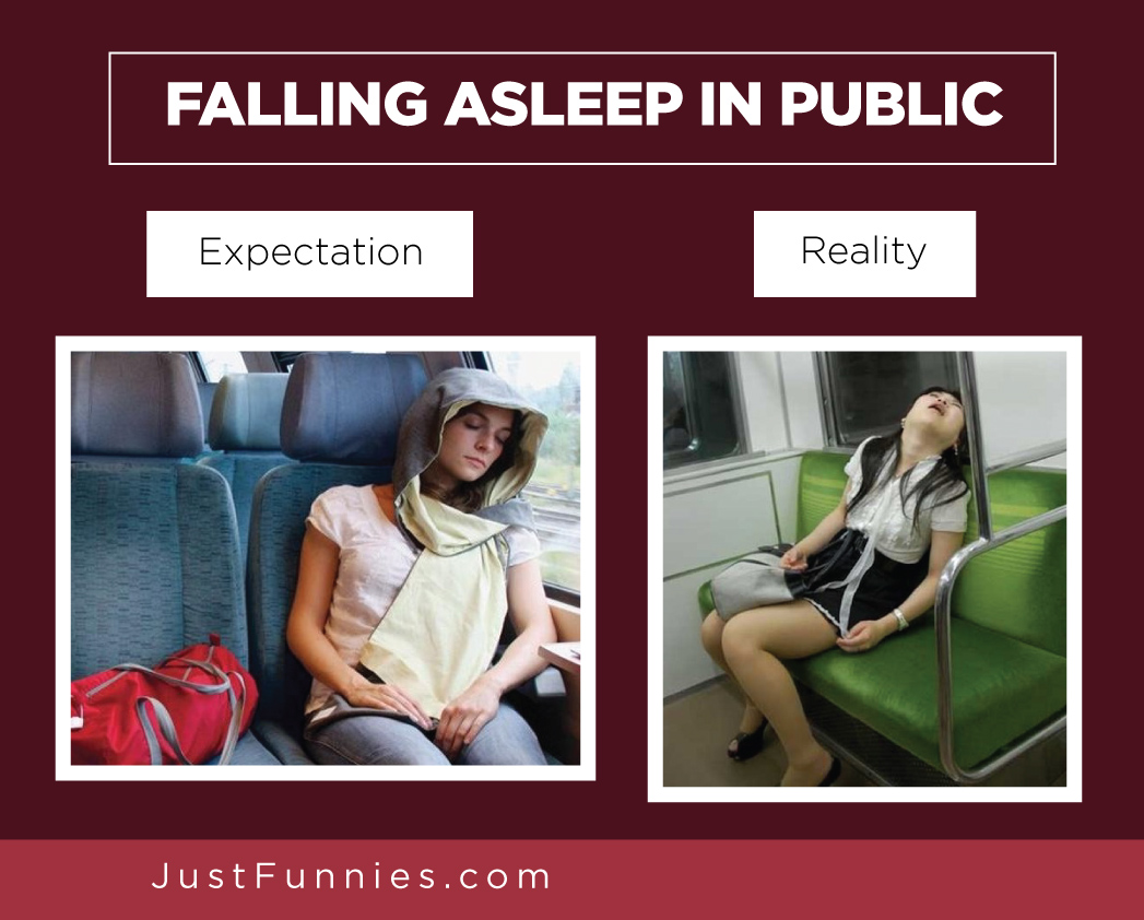 FALLING ASLEEP IN PUBLIC