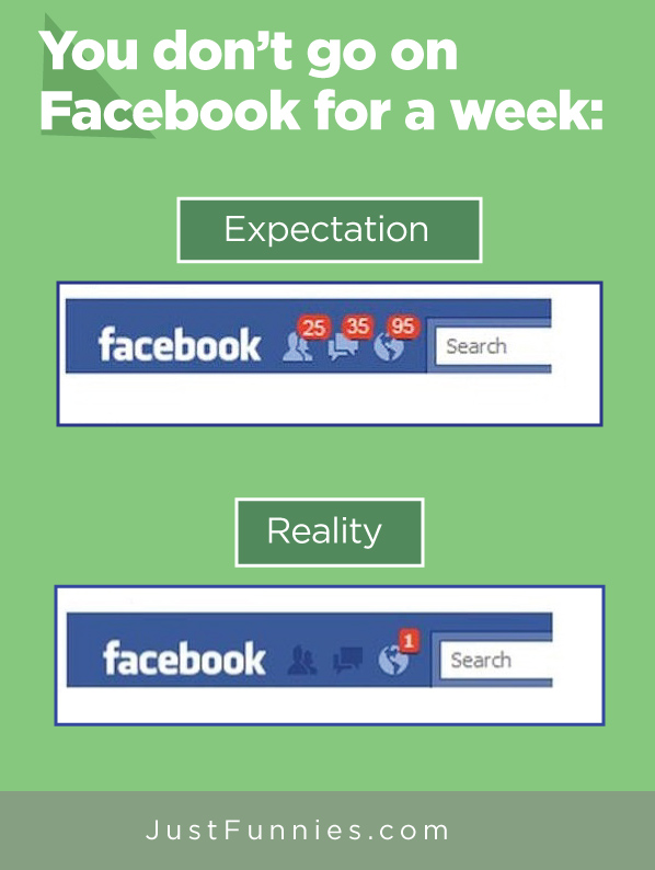 You don't go on Facebook for a week