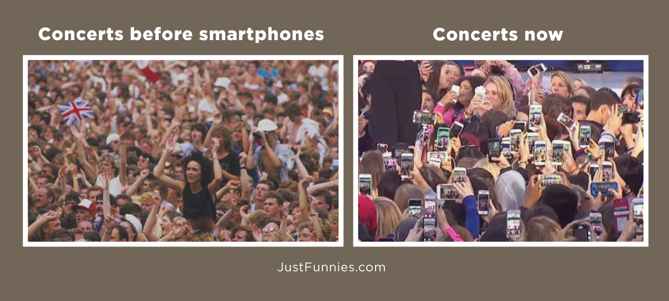 Concerts before smartphones