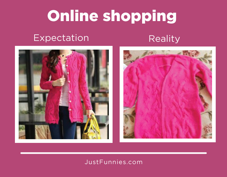 Expectation Vs Reality When Shopping Online