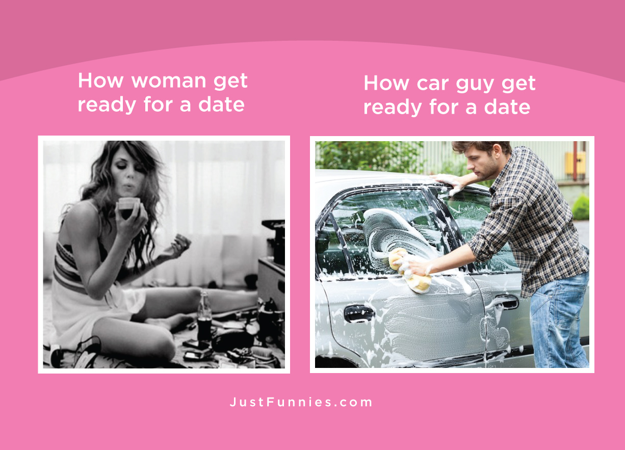 How woman get ready for a date